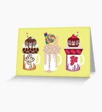 Dessert Mega Shakes Greeting Card