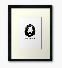 Siriusly Framed Print