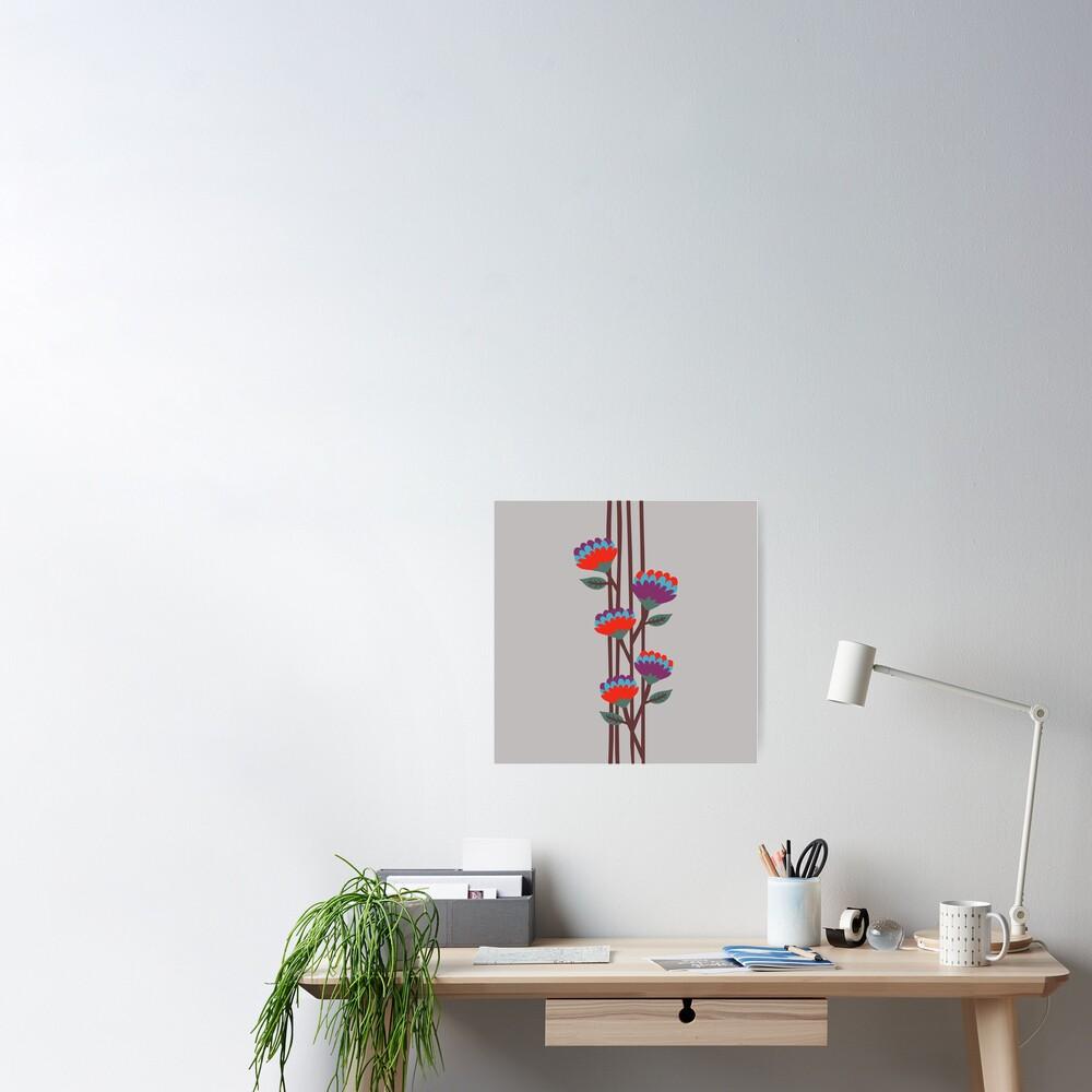 Émile Flowers Poster