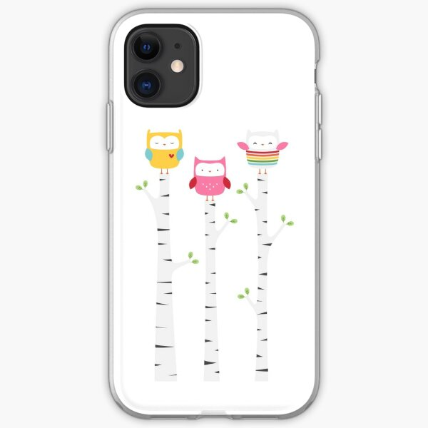 Treetop Owls iPhone Soft Case