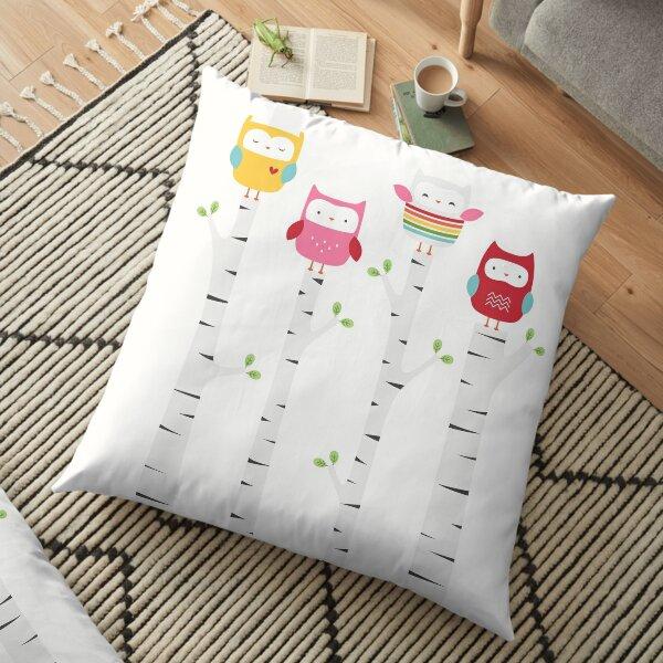 Treetop Owls Floor Pillow
