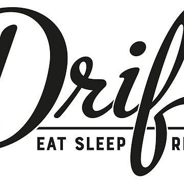 Eat Sleep Drift Repeat JDM Sticker by MarkPMB