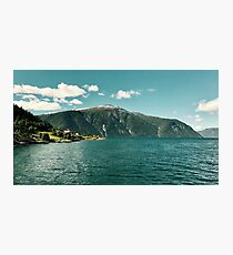 Fjord living Photographic Print