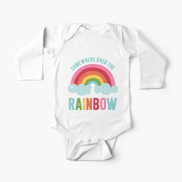 Somewhere Over the Rainbow Long Sleeve Baby One-Piece