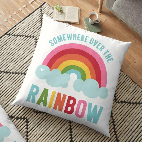 Somewhere Over the Rainbow Floor Pillow
