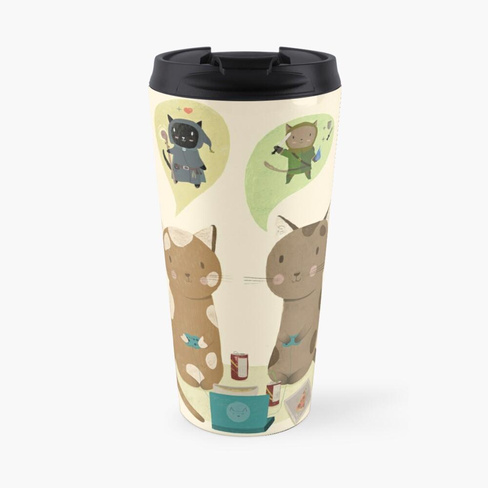Geek Cats  Travel Mug