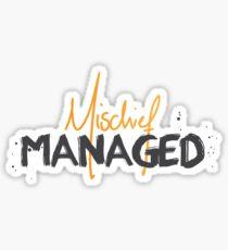 Mischief Managed No.1 Sticker