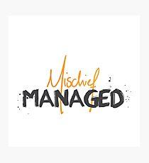 Mischief Managed No.1 Photographic Print