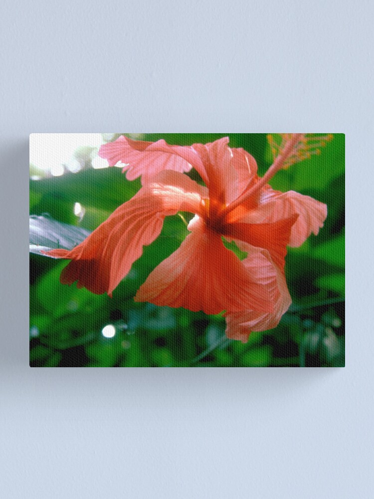 Alternate view of Red Tropical Flower Canvas Print