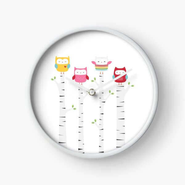 Treetop Owls Clock