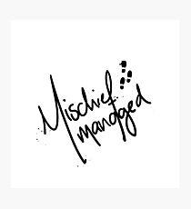 Mischief Managed No.2 Photographic Print