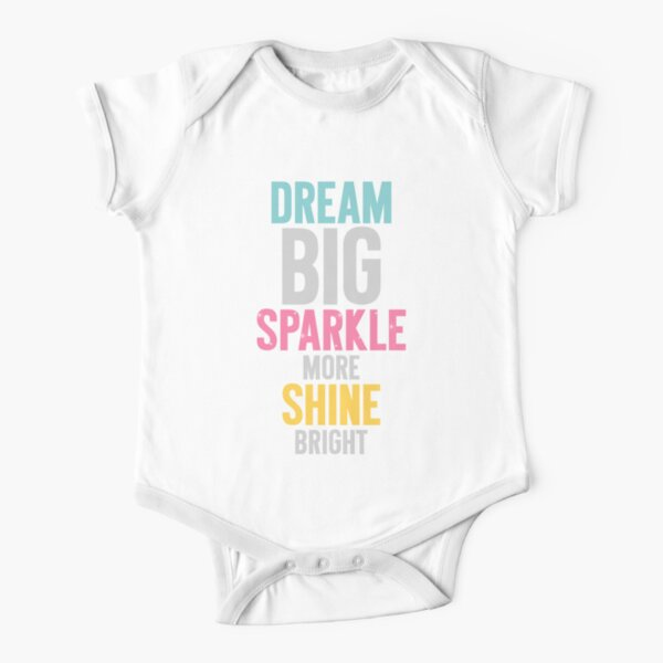 Dream Big Short Sleeve Baby One-Piece