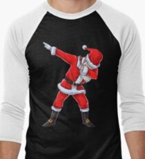 Dabbing Santa T Shirt Claus Christmas Funny Dab X-mas Gifts Men's Baseball ¾ T-Shirt