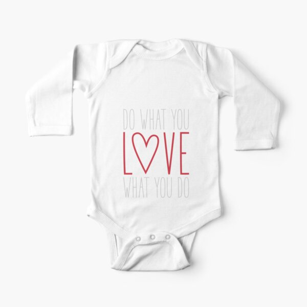 Do What You Love Long Sleeve Baby One-Piece