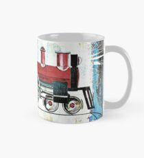 red locomotive Mug