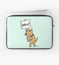 Doggie Protester Laptop Sleeve