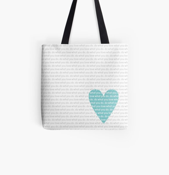 Do What You Love News All Over Print Tote Bag