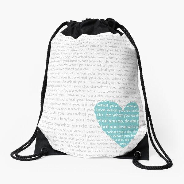Do What You Love News Drawstring Bag