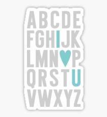 ABC I Love You Blue Sticker