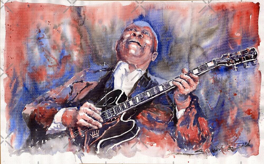 Jazz B B King 05 Red a by Yuriy Shevchuk
