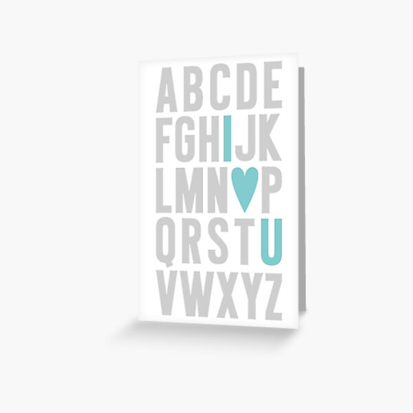 ABC I Love You Blue Greeting Card