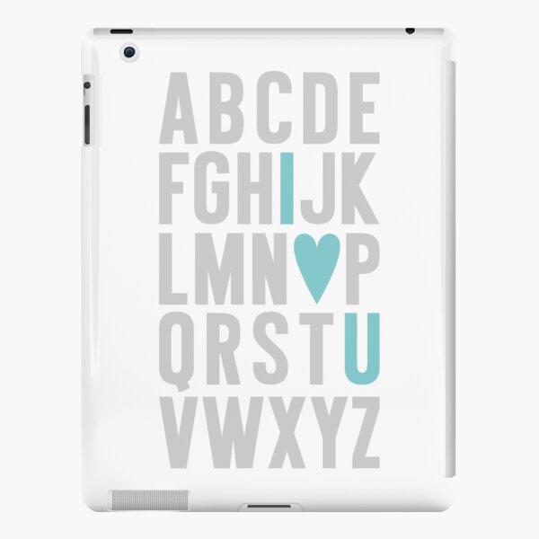 ABC I Love You Blue iPad Snap Case