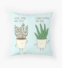 garden etiquette Throw Pillow