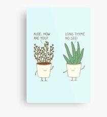 garden etiquette Metal Print