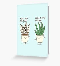 Garden Etiquette Greeting Card