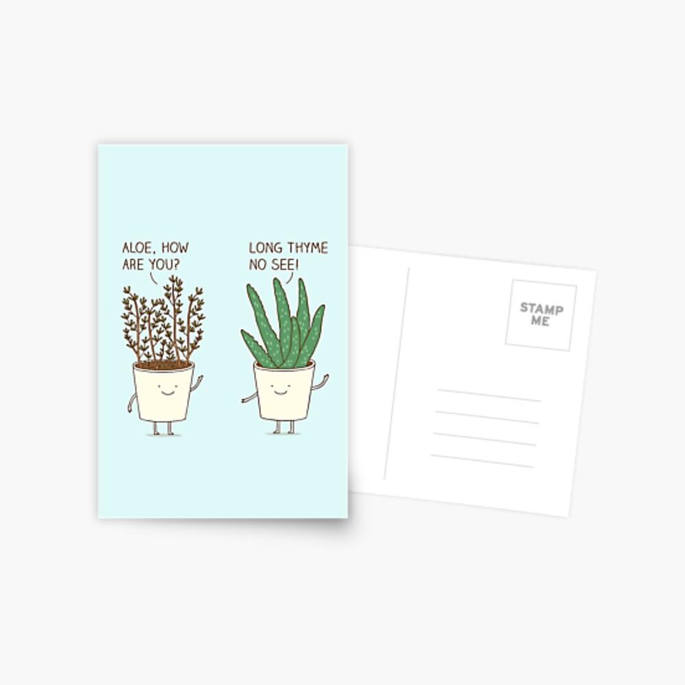 garden etiquette Postcard