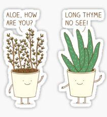 garden etiquette Sticker