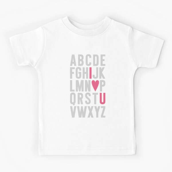 ABC I Love You Pink Kids T-Shirt