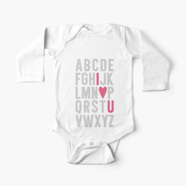 ABC I Love You Pink Long Sleeve Baby One-Piece