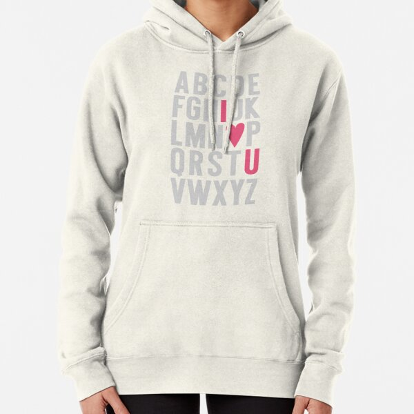 ABC I Love You Pink Pullover Hoodie