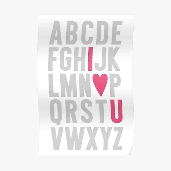 ABC I Love You Pink Poster