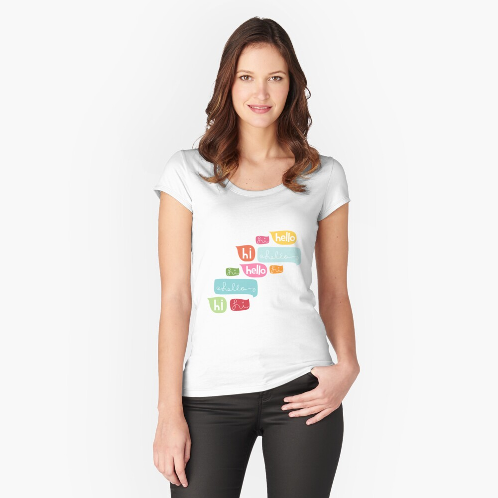 Hi Hello Women's Fitted Scoop T-Shirt Front