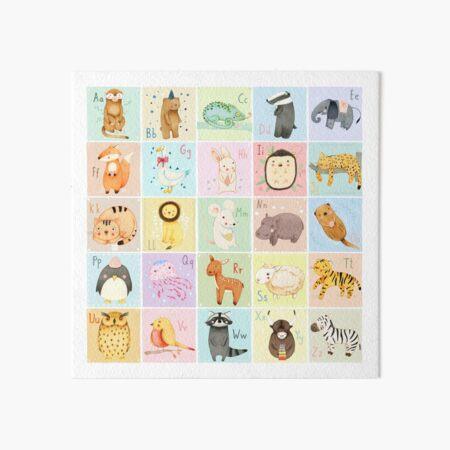 German Animal Alphabet Art Board Print