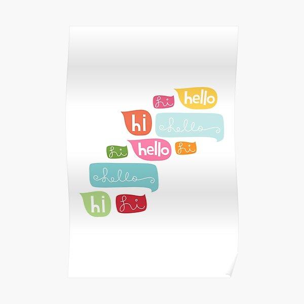 Hi Hello Poster