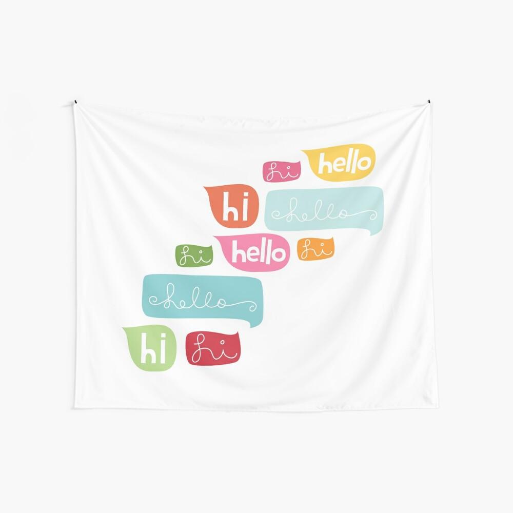 Hi Hello Wall Tapestry