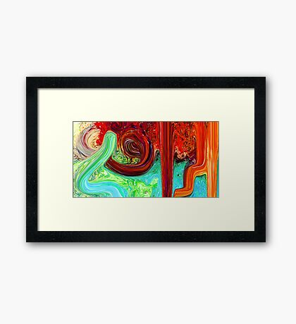 Al Rafey Allah name Painting Framed Print