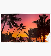 Rarotonga Sunset Poster