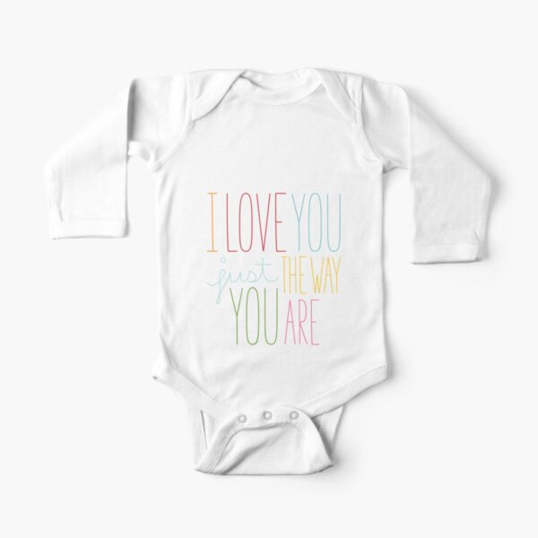 The Way You Are Long Sleeve Baby One-Piece