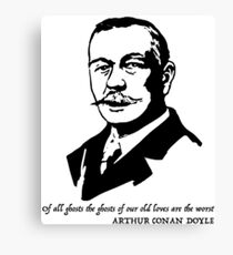 Arthur Conan Doyle quote  Canvas Print