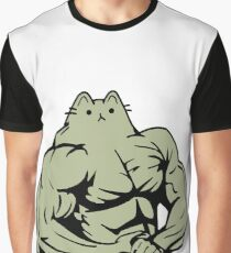 Gym Cat Graphic T-Shirt
