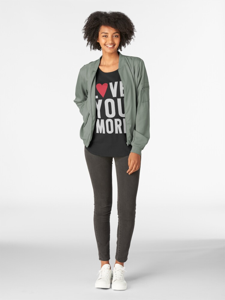 Alternate view of Love You More Premium Scoop T-Shirt
