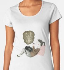 Cats and Coffee Frauen Premium T-Shirts
