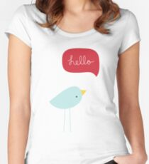 Hello Birdie Women's Fitted Scoop T-Shirt