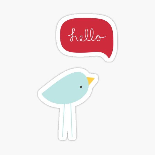 Hello Birdie Sticker