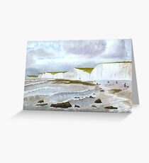 Wind and waves  by John Rees Greeting Card