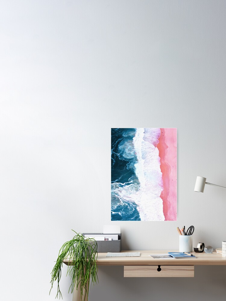 Alternate view of Aerial Beach, Ocean Waves Poster